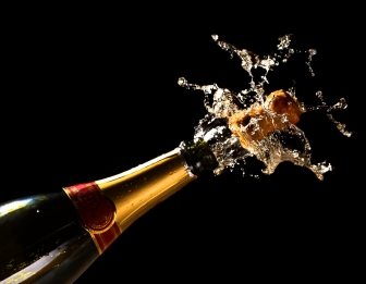 fine close up image of bottle of champagne background